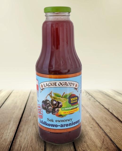 Sok Łąckie Ogrody jabłkowo-aroniowy 700 ml