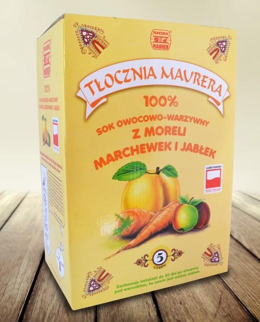 Sok morelowo-marchwiowo-jabłkowy karton 5L