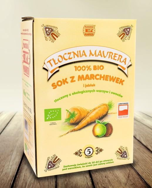 Sok Bio marchwiowy z jabłkiem karton 5L
