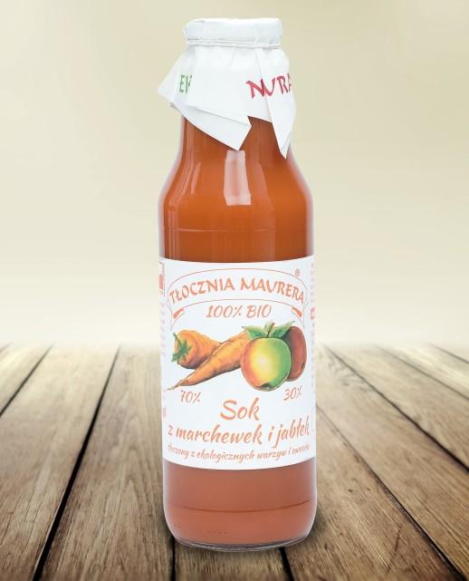 Sok bio marchwiowy z jabłkiem 750 ml