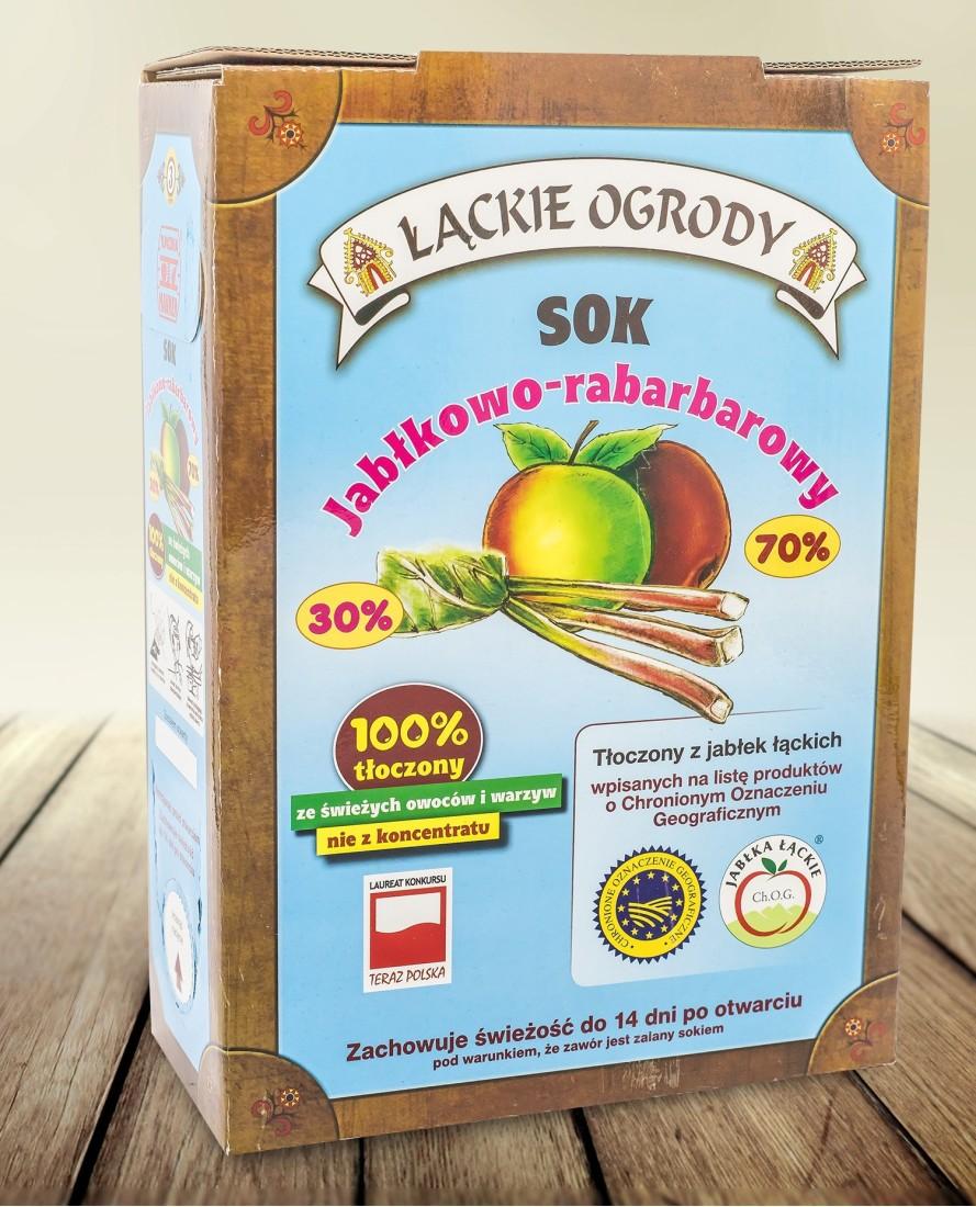 Sok Łąckie Ogrody jabłkowo - brzoskwiń karton 3l