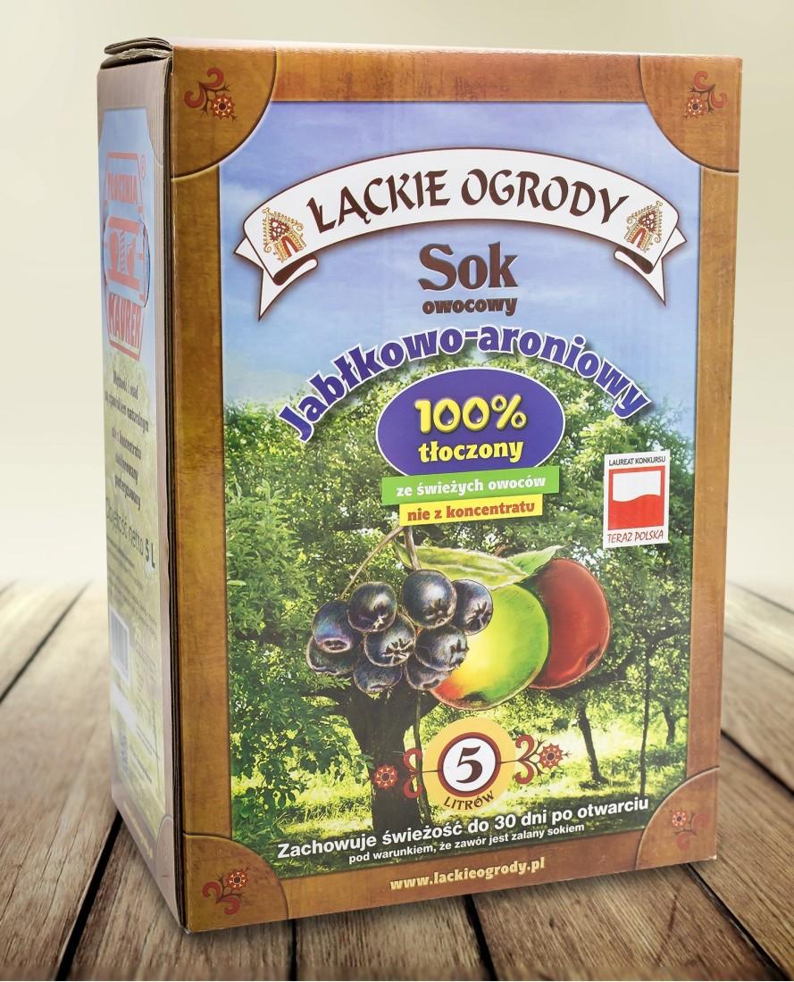 Sok Łąckie Ogrody jabłkowy-aroniowy karton 5l