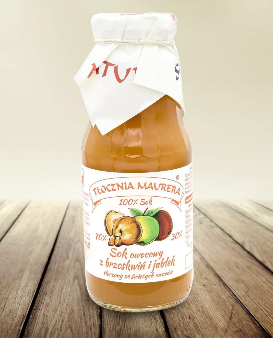 Sok brzoskwiniowy z jabłkiem 300 ml