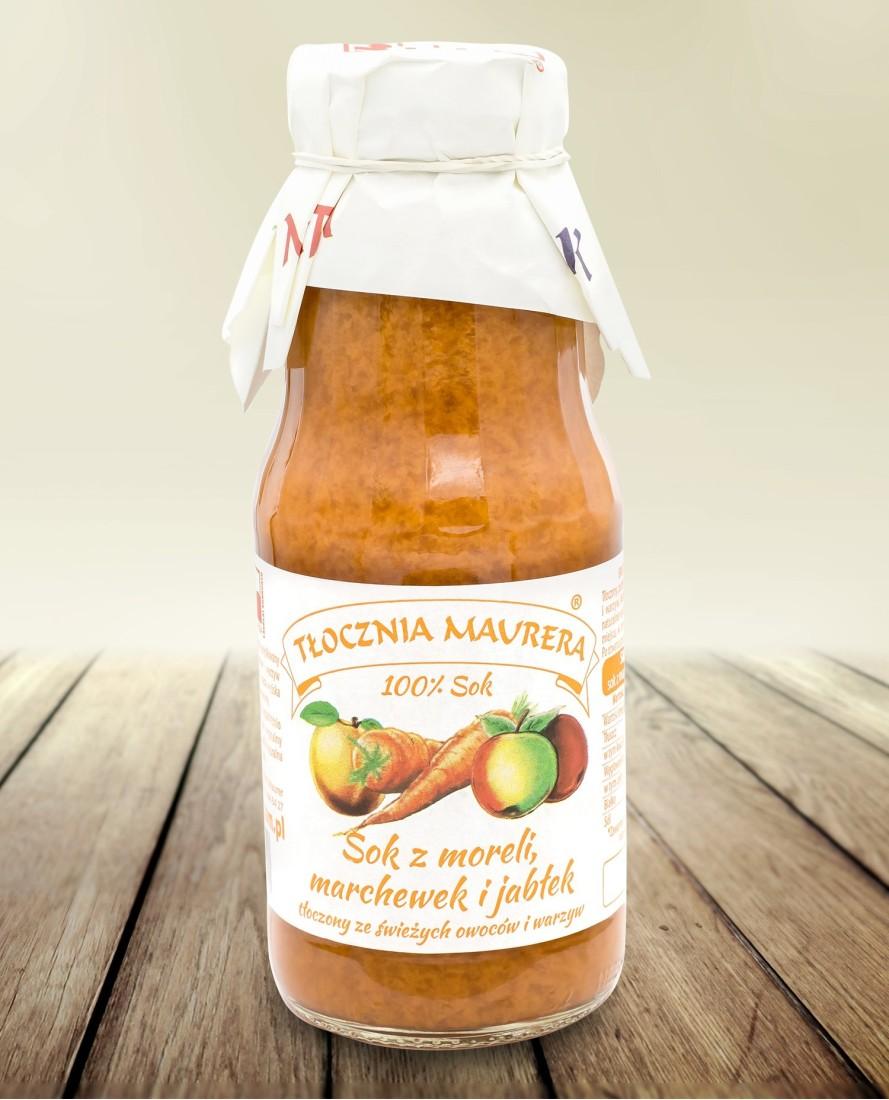 Sok morelowo-marchewkowy z jabłkiem 300ml