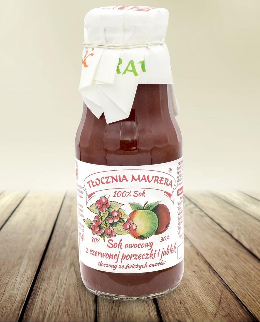Sok z czerwonej porzeczki i jabłek 300 ml