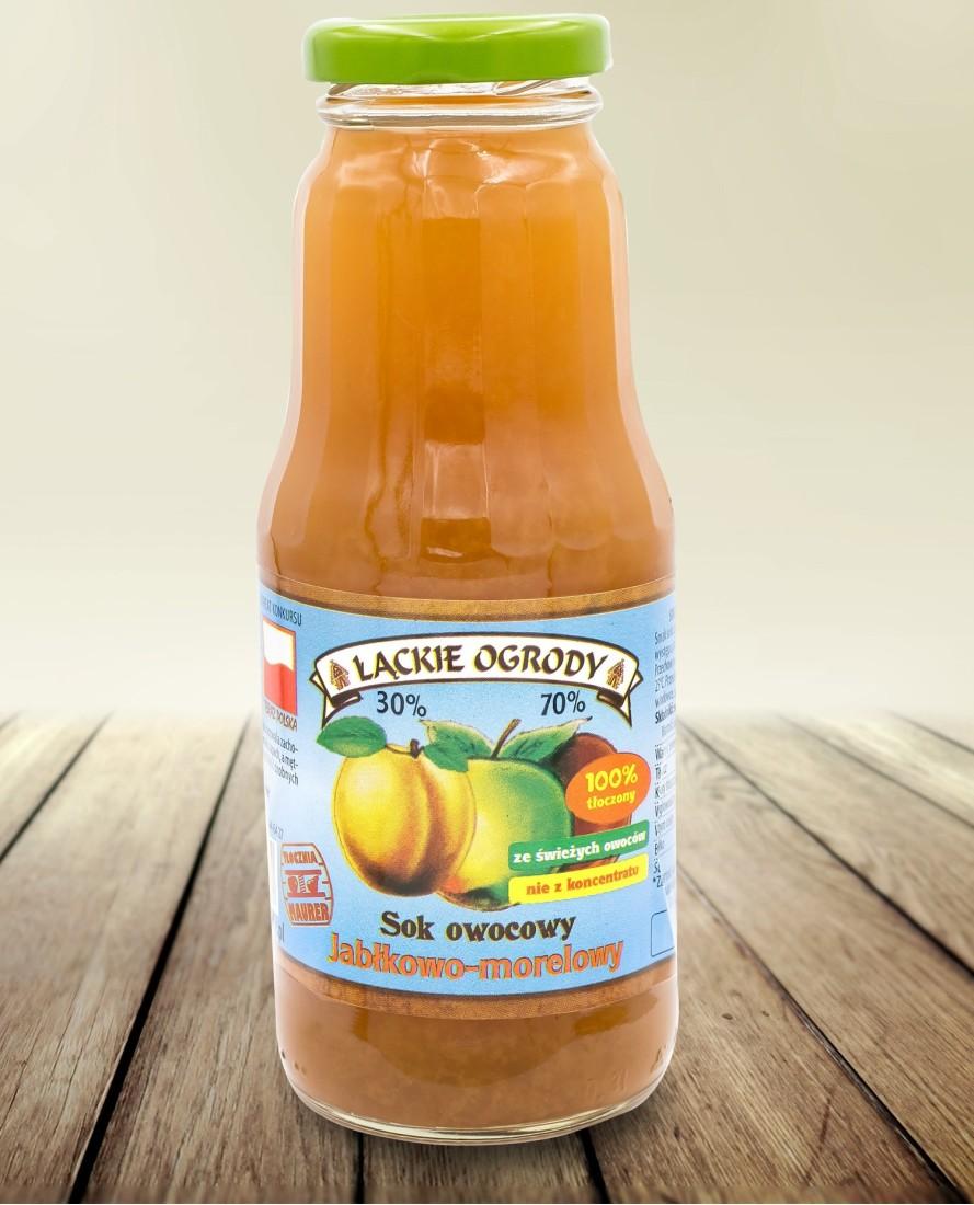 Sok Łąckie Ogrody jabłkowo-morelowy 300 ml