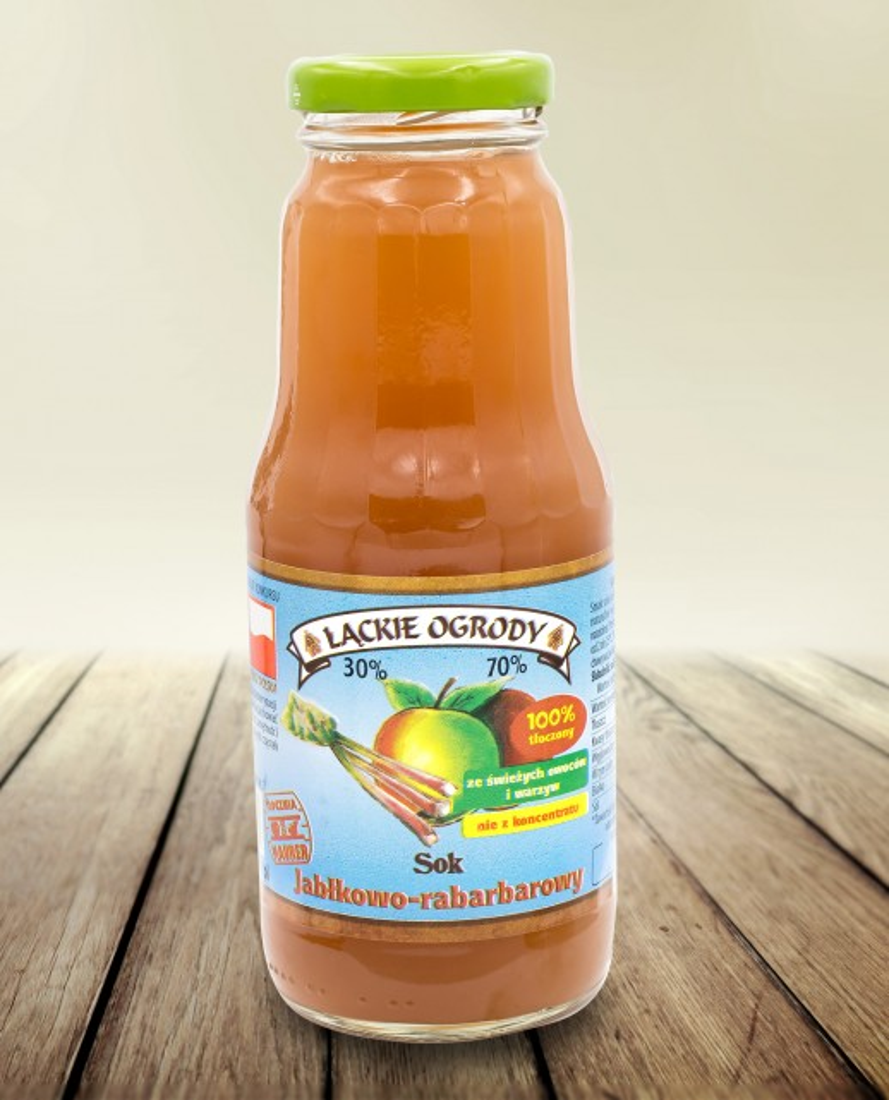 Sok Łąckie Ogrody jabłkowo-rabarbarowy 300 ml