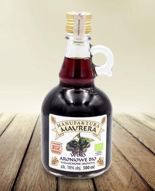 Wino BIO aroniowe wzmocnione okowitą18% 500ml