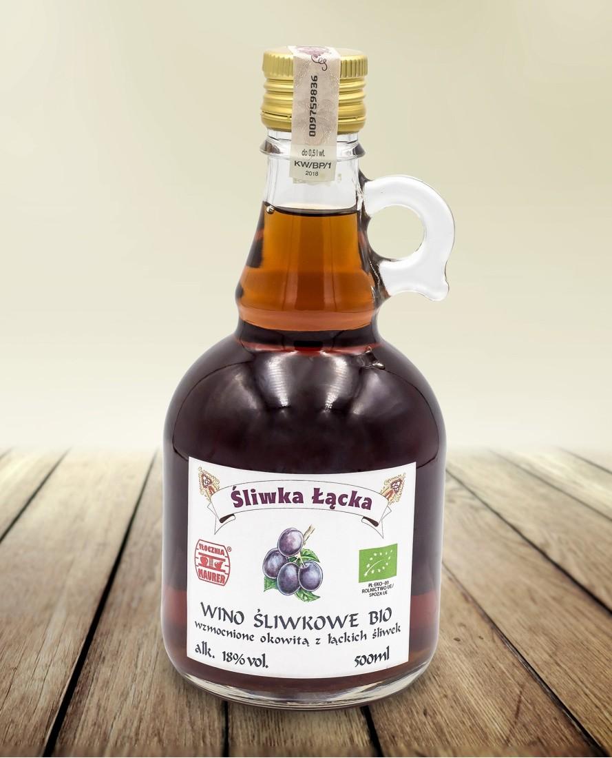 Wino śliwkowe BIO 500 ml